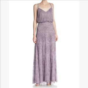 Adrienne Papell Lilac Beaded Gown